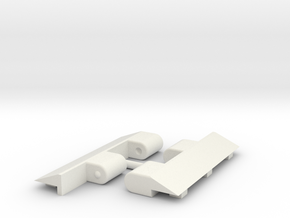 Metroplex TR Adapters in White Natural Versatile Plastic