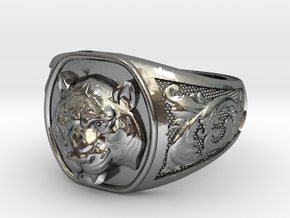 Tiger Ring #3 Size 9 in Polished Silver
