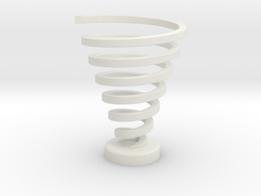 Ross Spiral Color - Original spin in White Natural Versatile Plastic
