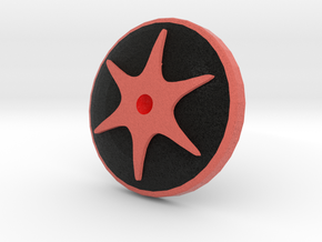 Embossed Shapeways Team - Supernova Soccer in Full Color Sandstone