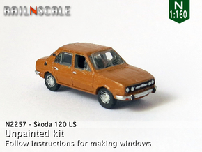 Skoda 120 LS (N 1:160) in Smooth Fine Detail Plastic