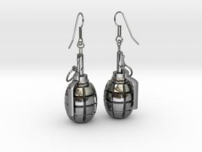 F1 Earrings in Premium Silver