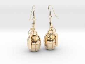 F1 Earrings in 14K Yellow Gold