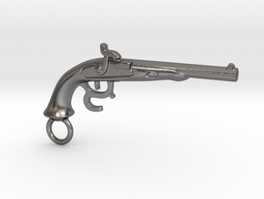 Muzzle-Loading Gun in Polished Nickel Steel