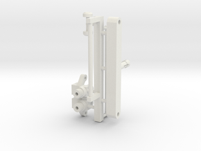 Steerable Rear Wheel Assist in White Natural Versatile Plastic