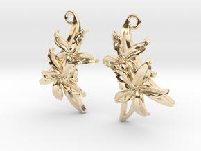 Sampaguita Earrings in 14k Gold Plated Brass