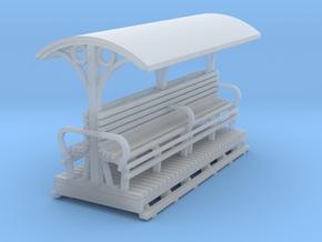 55n9 Longitudinal seat open coach  long in Smooth Fine Detail Plastic