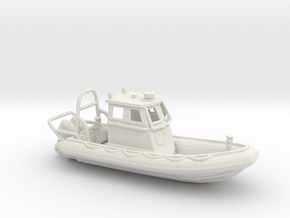 RIB Zodiac hurricane. 1:150 Scale  in White Natural Versatile Plastic