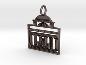Columbia Pendant in Polished Bronzed Silver Steel