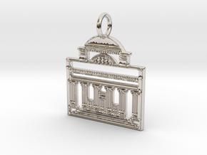 Columbia Pendant in Rhodium Plated Brass