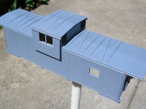EV Caboose Roof XP Std in Smooth Fine Detail Plastic