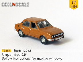 Skoda 120 LS (TT 1:120) in Smooth Fine Detail Plastic