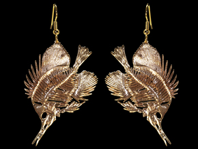 Butterfly Fish Earring/Pendant in Natural Bronze
