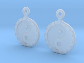 YinYang EarRings 1 - Pair - Plastic in Smooth Fine Detail Plastic