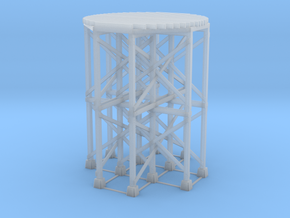 HO-Scale SP Wooden Water Tower Base (Tall) in Smooth Fine Detail Plastic
