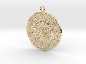 James Tru Green Pendant in 14K Yellow Gold
