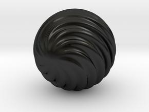 Wave Ball in Matte Black Porcelain