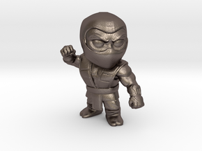 Ninja-medium in Polished Bronzed Silver Steel