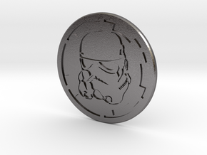 Trooper Challenge coin in Polished Nickel Steel