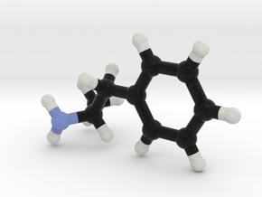 Amphetamine Molecule Model in Full Color Sandstone