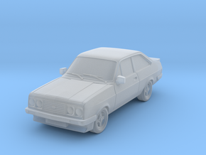 1:87 Escort mk 2 2 door rs 2000 hollow in Smooth Fine Detail Plastic