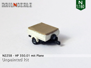 HP 350.01 mit Plane (N 1:160) in Smooth Fine Detail Plastic