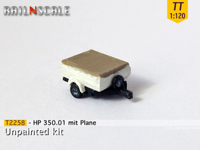 HP 350.01 mit Plane (TT 1:120) in Smooth Fine Detail Plastic