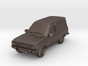 1:87 Escort mk 2 2 door van hollow in Polished Bronzed Silver Steel