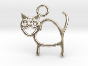 Cat Pendant in Platinum