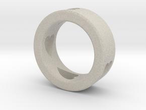 LOVE RING Size-7 in Natural Sandstone