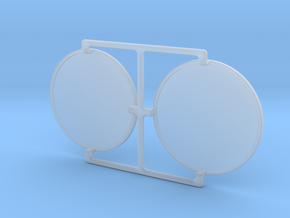 4X20 Scope Lens Pair in Smooth Fine Detail Plastic