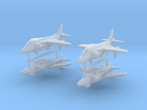 1/700 Harrier GR7/9 (x4) in Smooth Fine Detail Plastic