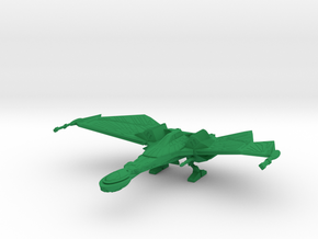 1/2500 QuD (Insurrection) Frigate - Landing mode in Green Strong & Flexible Polished