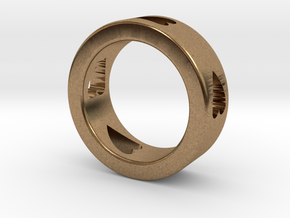 LOVE RING Size-9 in Natural Brass