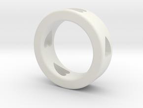 LOVE RING Size-10 in White Natural Versatile Plastic
