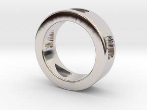LOVE RING Size-10 in Platinum