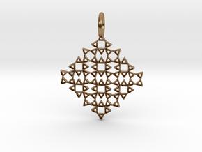 Square No.13 Pendant in Natural Brass