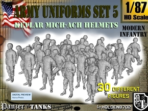 1-87 Army Modern Uniforms Set5 in Frosted Ultra Detail