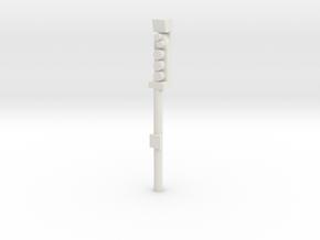 Leeds Signal P10 End Plat in White Natural Versatile Plastic
