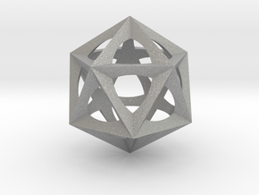0577 Icosohedron (E, 2.5 cm) in Aluminum