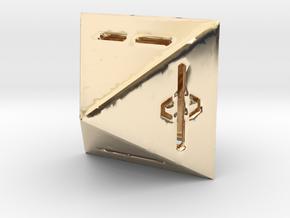 IChingDice-solidLineFix in 14k Gold Plated Brass