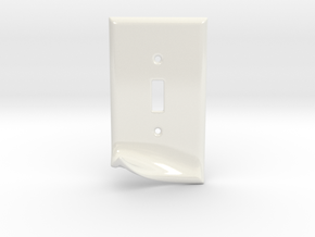 Peel Key Hook - Ceramic in Gloss White Porcelain