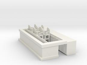 Overlook Bar Bottom For Translucent Strip - HO 87: in White Natural Versatile Plastic