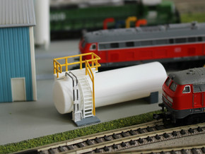 N Scale Diesel Storage Tank v3 (FUD) in Smooth Fine Detail Plastic