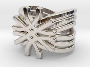 Quantum Wave Ring in Rhodium Plated Brass