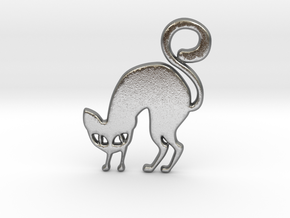 Halloween Cat in Natural Silver