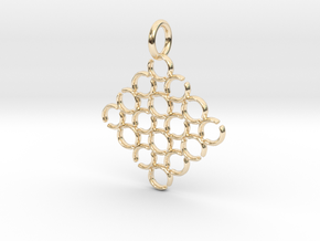 C and C Pendant in 14k Gold Plated Brass