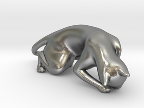 Hunting Cat in Natural Silver