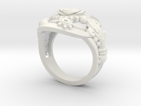 Botanica Mechanicum RING SIZE 9 in White Natural Versatile Plastic