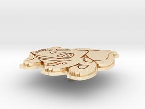 Bulbasaur Pin in 14k Gold Plated Brass